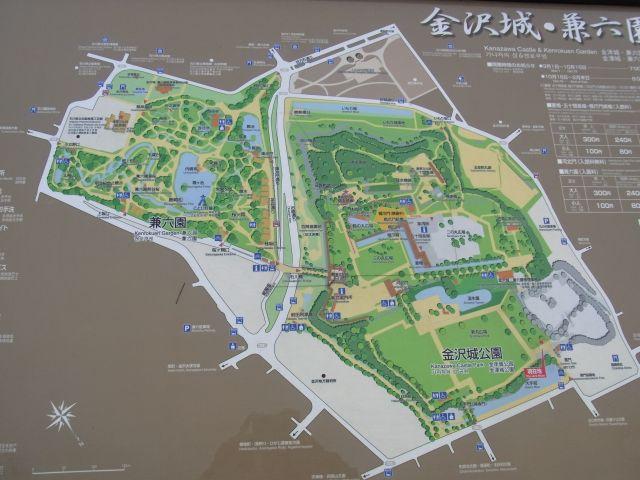 兼六園と金沢城公園のMAP